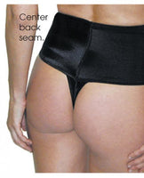 Rago Shapewear Wide Band Thong Shaper Black XL Rago foundations llc centerpoint-fashion.myshopify.com