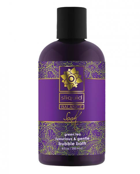 Sliquid Balance Soak Bubble Bath Green Tea 8.5oz Sliquid centerpoint-fashion.myshopify.com