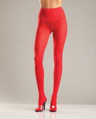 Opaque Nylon Pantyhose Red QN Be Wicked centerpoint-fashion.myshopify.com