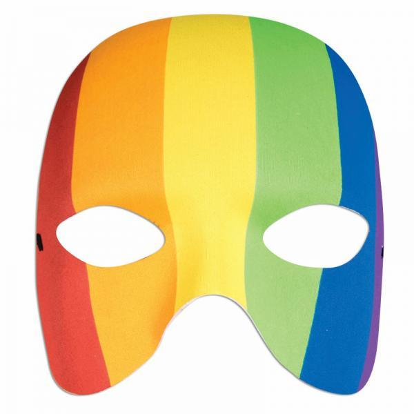 Rainbow Half Mask Forum Novelties centerpoint-fashion.myshopify.com