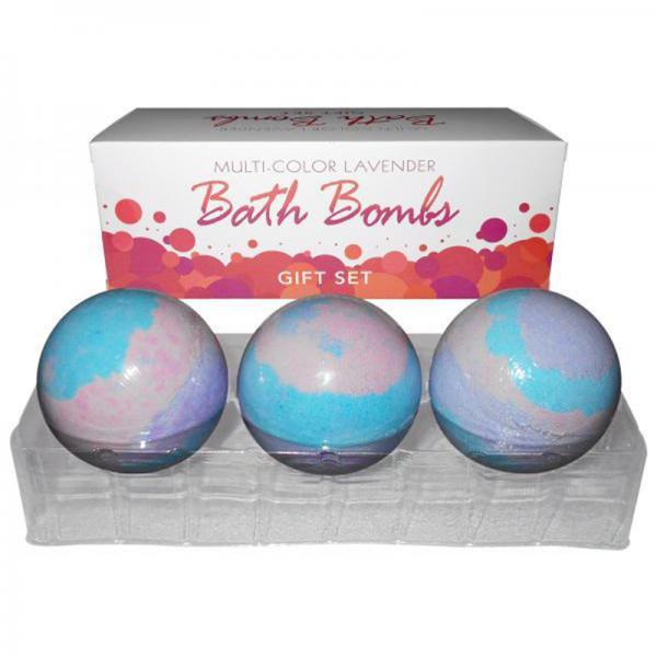 Bath Bomb Multi Color (3pc) Lav Gift Set Kheper Games centerpoint-fashion.myshopify.com