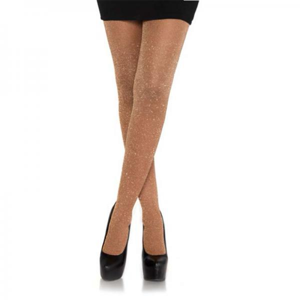 Lurex Shimmer Tights Rose Gold O-s Leg Avenue centerpoint-fashion.myshopify.com