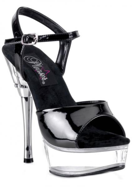 Allure 609 Stiletto Black Clear 5.5 Inches Heel Size 7 Pleaser Sexy Shoes centerpoint-fashion.myshopify.com