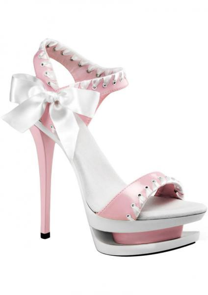 Blondie 615 Stiletto Pink White Size 8 Pleaser Sexy Shoes centerpoint-fashion.myshopify.com