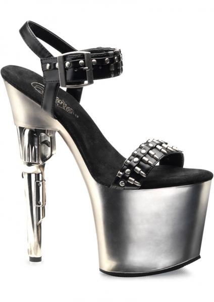 Bond Girl 712 Stiletto Black-Silver Size 6 Pleaser Sexy Shoes centerpoint-fashion.myshopify.com