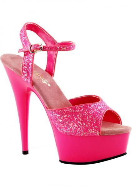 Delight 609 UV Hot Pink Glitter Sandal Size 7 Pleaser Sexy Shoes centerpoint-fashion.myshopify.com