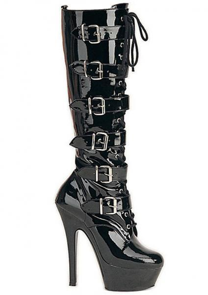 Kiss 2049 Black Stiletto Boots Size 6 Pleaser Sexy Shoes centerpoint-fashion.myshopify.com