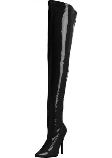 Seduce 5 Inches Black Stretch Thigh Boots Size 9 Pleaser Sexy Shoes centerpoint-fashion.myshopify.com