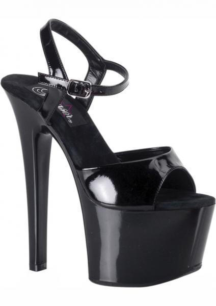 Sky 6.75 Inches Black Stiletto Ankle Strap Size 9 Pleaser Sexy Shoes centerpoint-fashion.myshopify.com