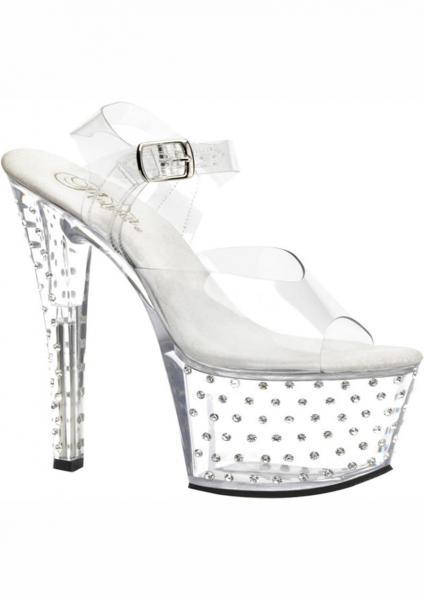 Stardust Studs Clear Stripper Shoes Size 7 Pleaser Sexy Shoes centerpoint-fashion.myshopify.com