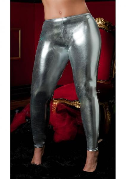 Shiny Stretch Lame Tights Silver Queen Seven 'Til Midnight Lingerie centerpoint-fashion.myshopify.com
