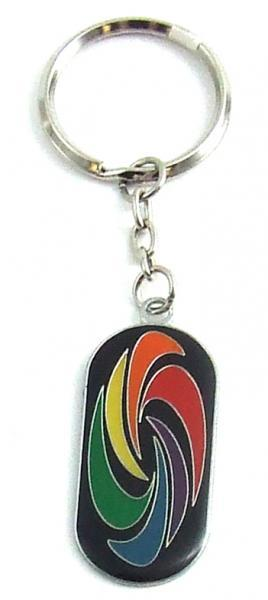 Gaysentials Enamel Key Chain Swirl Phs International centerpoint-fashion.myshopify.com