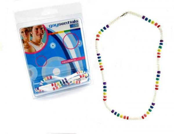 Gaysentials Rainbow Shell Necklace 18 inches Phs International centerpoint-fashion.myshopify.com