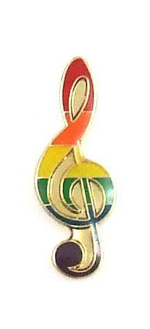 Gaysentials Lapel Pin Rainbow Musical Note Phs International centerpoint-fashion.myshopify.com