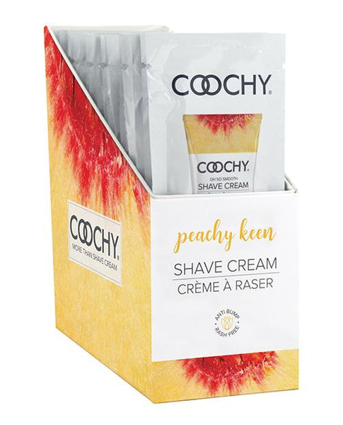 Coochy Shave Cream Peachy Keen Foil 15ml 24pc Display Classic Erotica centerpoint-fashion.myshopify.com