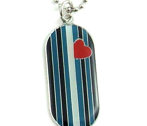 Leather Flag I.d. Tag Necklace PHS INTERNATIONAL centerpoint-fashion.myshopify.com