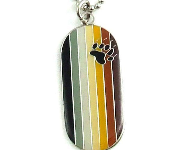 Bear Flag I.d. Tag Necklace PHS INTERNATIONAL centerpoint-fashion.myshopify.com