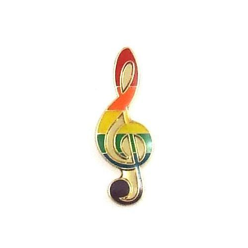 Lapel Pin Rainbow Note PHS INTERNATIONAL centerpoint-fashion.myshopify.com