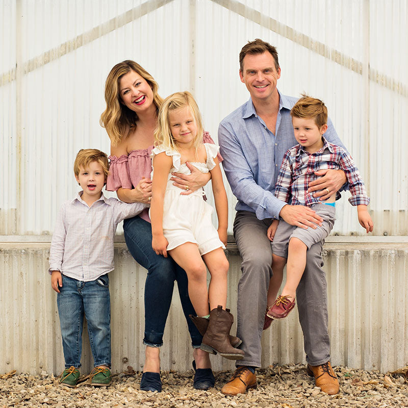 Toine and Kandie Overgaag with their family as the new owners of Westerlay.