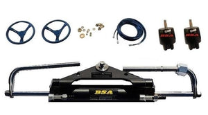 Dual Station Hydraulic Outboard Motor Steering Kit up to 150HP - Boat Steering