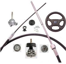 Load image into Gallery viewer, Planetary Gear Helm Boat Steering Kits 16ft (4.87m) - Boat Steering