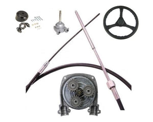 Planetary Boat Steering Kit cable helm wheel Multiflex Teleflex Compatible - Boat Steering