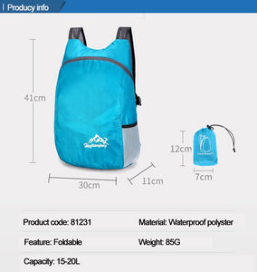 The Friday Water Resistant Lightweight Foldable Backpack for Travel