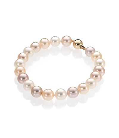 Pearl Bracelet Luxury 18k Yellow Gold Multicolor