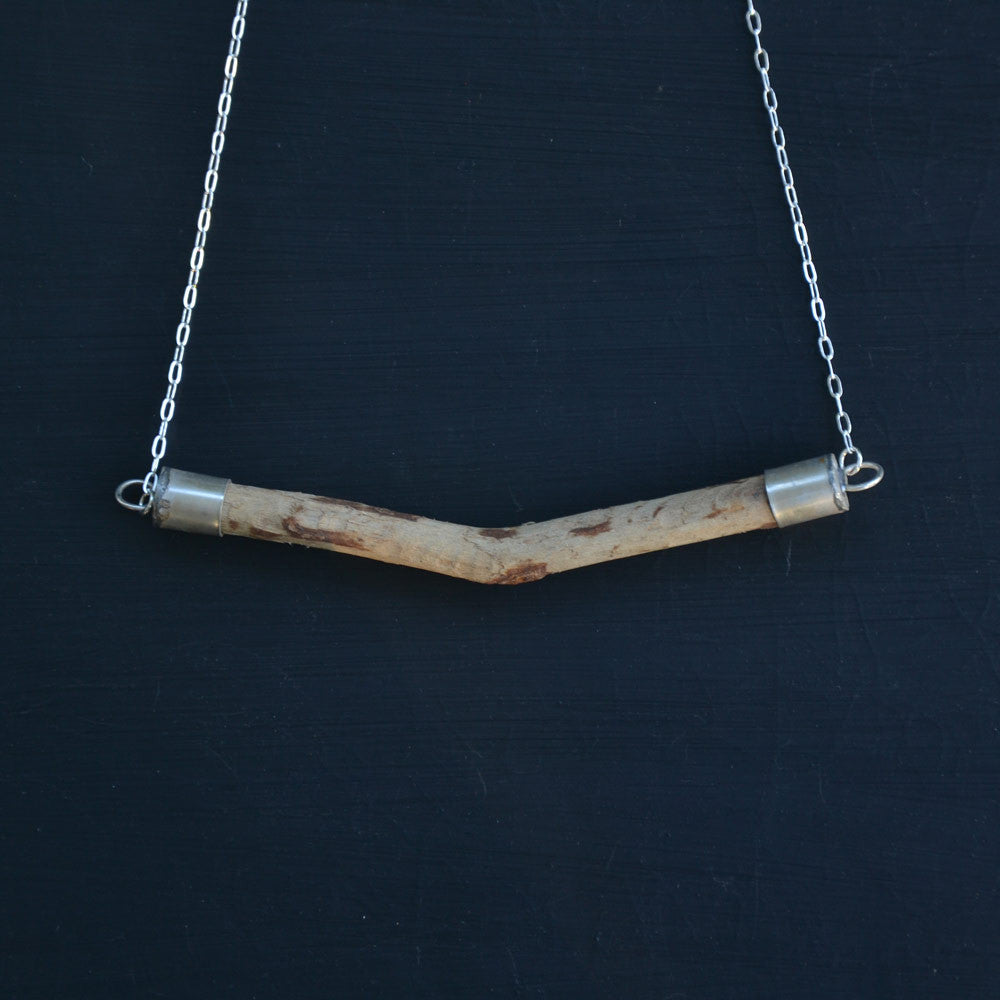 Linear Wood Necklace