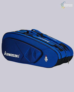 Kawasaki KBB 8658 6 badminton racket bag blue - badminton racket review