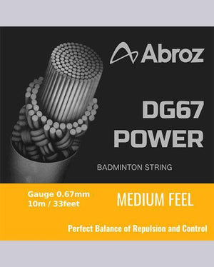 Abroz DG67 (UK) Badminton Racket String - badminton racket review