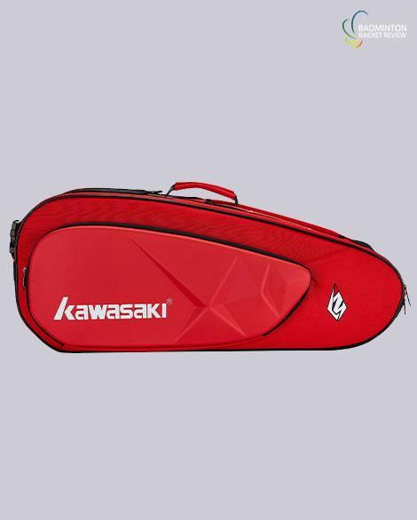Kawasaki KBB 8658 6 badminton racket bag red - badminton racket review