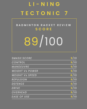 Li-Ning Tectonic 7 badminton racket - badminton racket review