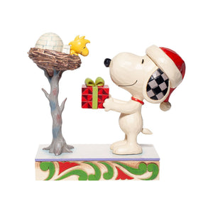 SNOOPY & WOODSTOCK WITH GIFT