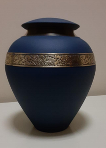 Anoka Urns - Shimmering Grey and Beautiful Blue
