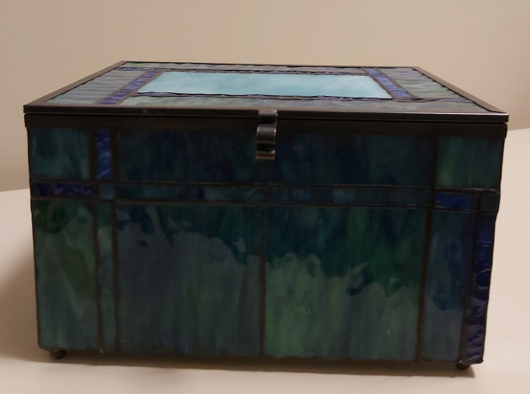 Glass River Blue Memory Chest