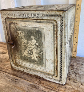 1900s Schepp's tin Bread/Cake Box