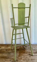 Load image into Gallery viewer, 1950's Green Doll High Chair w/floral decals