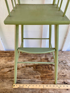 1950's Green Doll High Chair w/floral decals
