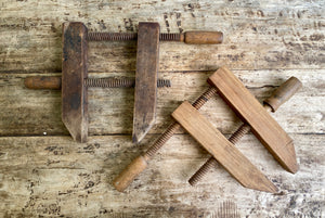 1930s Antique Wooden Carpenter Clamps