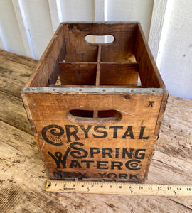 Vintage Crystal Springs Multi Bottle Crate w/Bottles