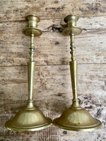 Load image into Gallery viewer, Elegant Vintage Brass Candlesticks