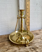 Load image into Gallery viewer, Pair of Baldwin Brass Nautical Finger Loop/Wall Swivel Candleholders