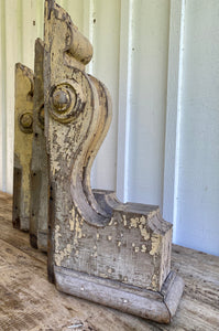 Antique Architectural Large Wooden Corbels