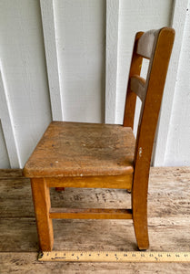1950s Vintage Wood Childs Oak School Chairs