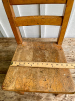 Load image into Gallery viewer, 1950s Vintage Wood Childs Oak School Chairs