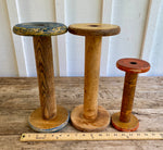 Load image into Gallery viewer, Vintage Rustic Relic Wooden Bobbin Spools