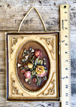 Load image into Gallery viewer, Vintage German 3-D Wax Floral Bouquet Plaque