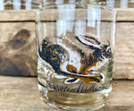Load image into Gallery viewer, Vintage Couroc Signed Golden Rabbit Bar Glasses s/8