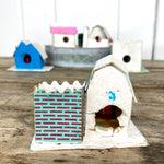 "Load image into Gallery viewer, Vintage Cardboard ""Putz"" Style Christmas Houses"